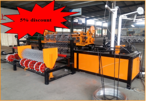 2016 best selling chain link fence machine with 5% discount