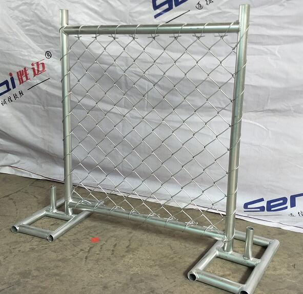 chain link temporary fence machine